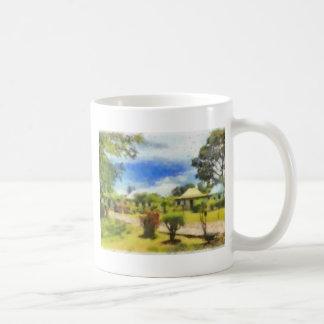 Greenery in a resort basic white mug