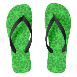 Greenery Kaleidoscope 8075 flip flops Thongs