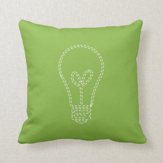 Greenery Lightbulb Cushion