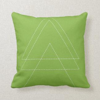 Greenery Modern Triangle Cushion