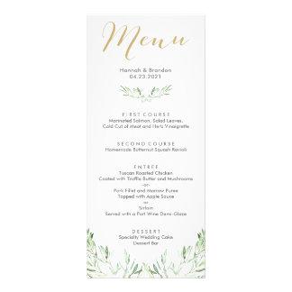 Greenery Olive Branch Wedding Menu