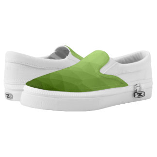 Greenery ombre gradient geometric mesh slip on shoes