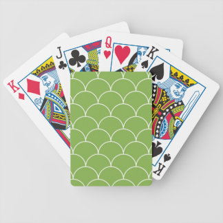 Greenery scales pattern bicycle playing cards