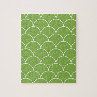 Greenery scales pattern jigsaw puzzle