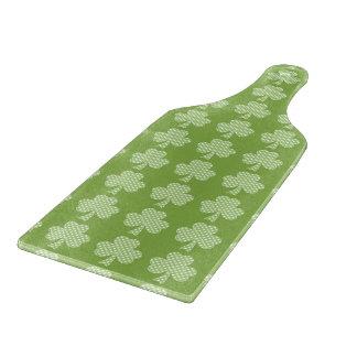 Greenery Shamrock Clover Polka dots Patrick's Day Cutting Board