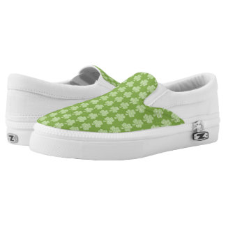 Greenery Shamrock Clover Polka dots Patrick's Day Printed Shoes