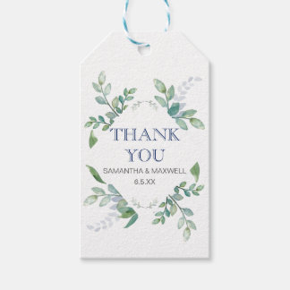 Greenery Wedding Favour Gift Tags