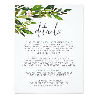 Greenery Wedding Invitation Set Enclosure Card