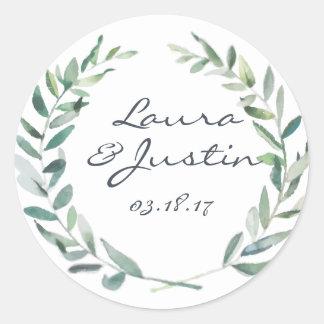 Greenery Wedding Sticker