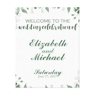 Greenery Wedding Welcome Sign