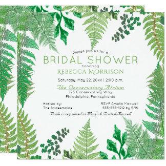 Greenery   Wild Ferns Bridal Shower Invitations