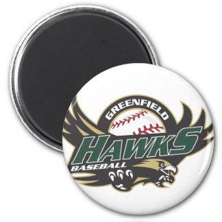 Greenfield Jr Hawk Spirit Wear 6 Cm Round Magnet