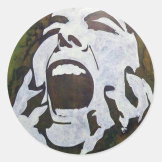 GREENfiti-1 Classic Round Sticker