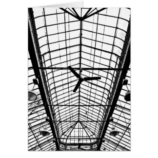 Greenhouse Ceiling in Black and White Greeting Card
