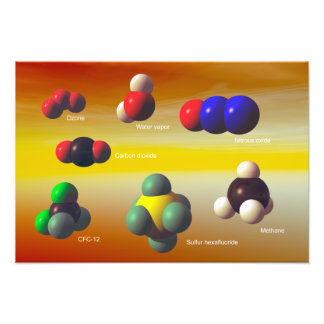 Greenhouse gases poster photo