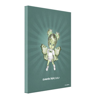 Greenie Fairy Baby LuLu Wrapped Canvas Gallery Wrapped Canvas
