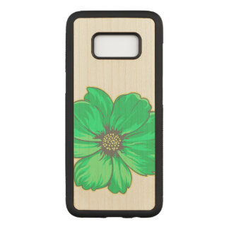 Greenish Artistic Flower Carved Samsung Galaxy S8 Case