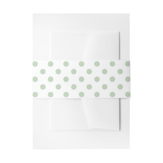 Greenish blue and white polka dots belly band invitation belly band