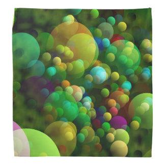Greenish Bubbles Bandana