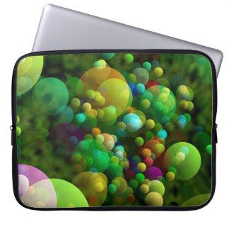 Greenish Bubbles Laptop Sleeve