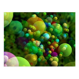 Greenish Bubbles Postcard