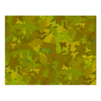 greenish camouflage camo digital pattern post cards