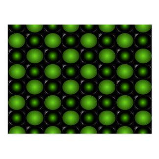 Greenish Chessboard 3D Design Green Postcard