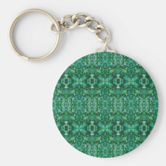 Greenish Kaleidoscope Design Pattern Key Chains