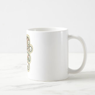 Greenish octopus coffee mug
