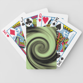 Greenish Swirl Bicycle Playing Cards