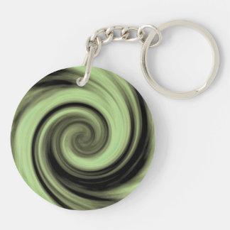 Greenish Swirl Key Ring