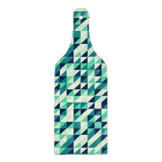 Greenish Triangle Pattern Cutting Board