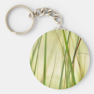 Greenish-yellow dream basic round button key ring