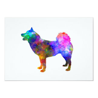 Greenland Dog in watercolor Card