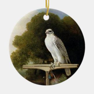 Greenland Falcon (Grey Falcon), 1780 (oil on panel Ceramic Ornament
