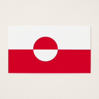 Greenland Flag Business Card