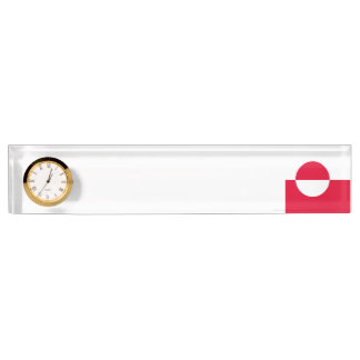 Greenland Flag Desk Nameplate