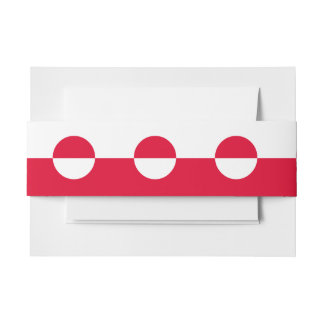 Greenland Flag Invitation Belly Band