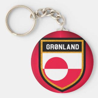 Greenland Flag Key Ring