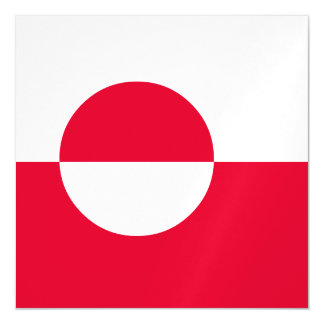 Greenland Flag Magnetic Invitations