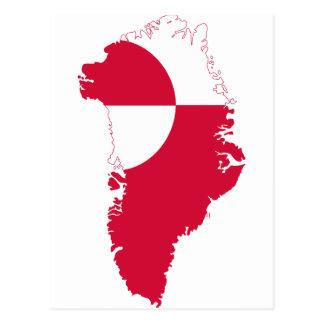 Greenland Flag Map GL Postcard