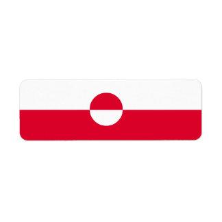 Greenland Flag Return Address Label
