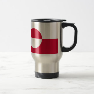 Greenland Flag Travel Mug