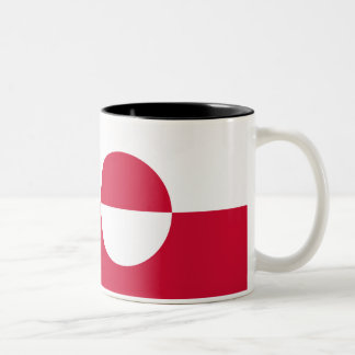 Greenland Flag Two-Tone Coffee Mug