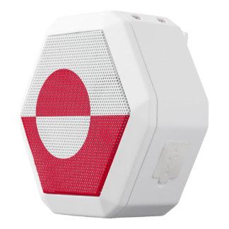 Greenland Flag White Bluetooth Speaker