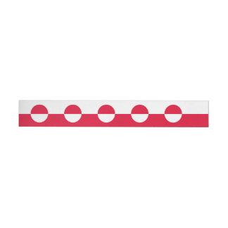 Greenland Flag Wraparound Address Label