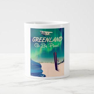 Greenland 'Go By Plane!' Large Coffee Mug