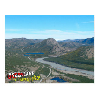 Greenland is a heavenly place postcard