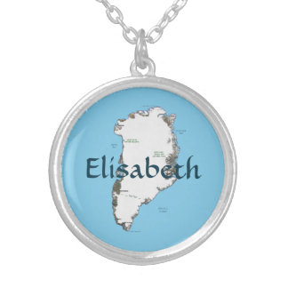 Greenland Map + Name Necklace