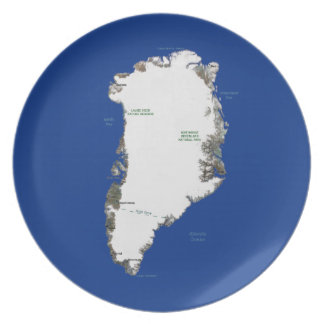 Greenland Map Plate